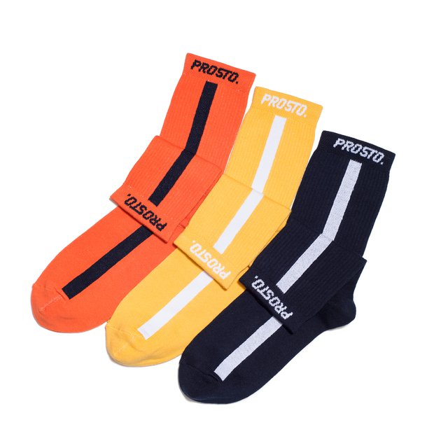 SOCKS CREW MULTI N/Y/O