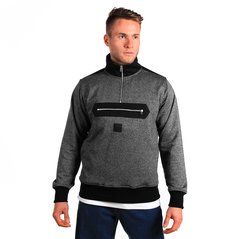 KL SWEATSHIRT BOUNDARY PEPPER HEATHER GREY