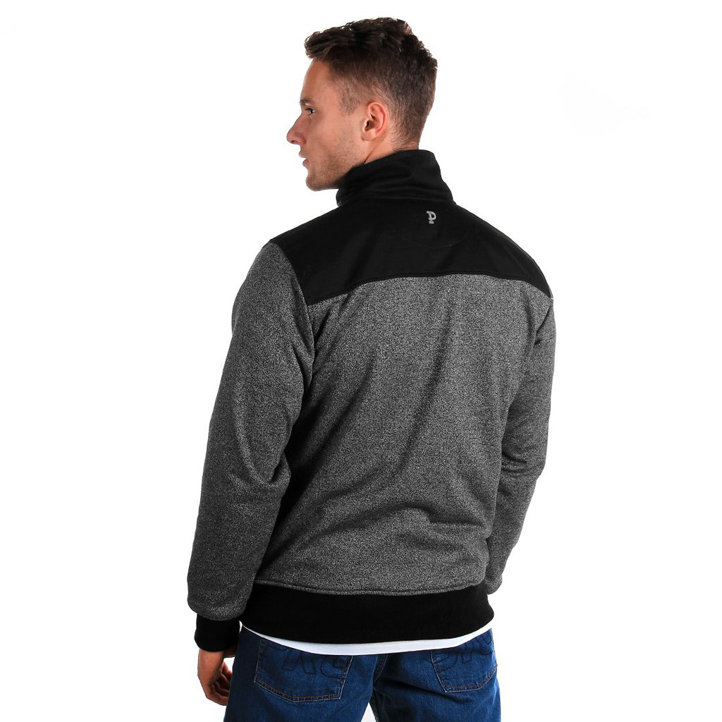 SWEATSHIRT BOUNDARY PEPPER HEATHER GREY