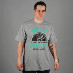 KL T-SHIRT RECORD MEDIUM HEATHER GREY
