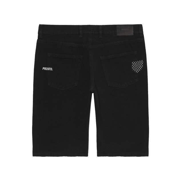 JEANS SHORTS EMBNET BLACK