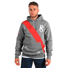 ST HOODY BADGE MEDIUM HEATHER GREY