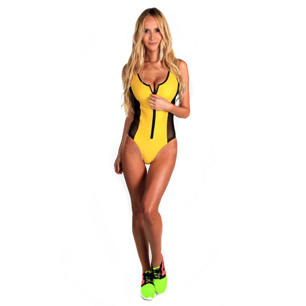 SWIMSUIT ZIPPY YELLOW