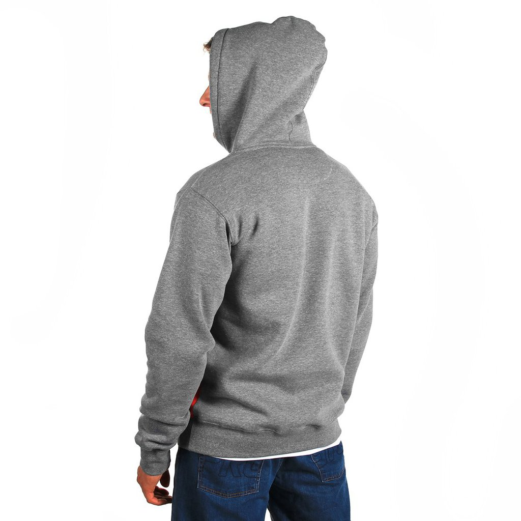 HOODY BADGE MEDIUM HEATHER GREY