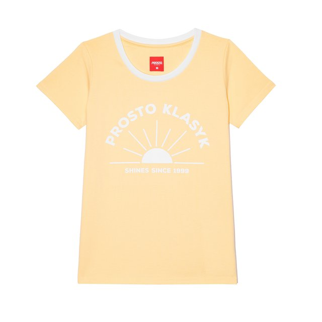 T-SHIRT SHINES LIGHT YELLOW
