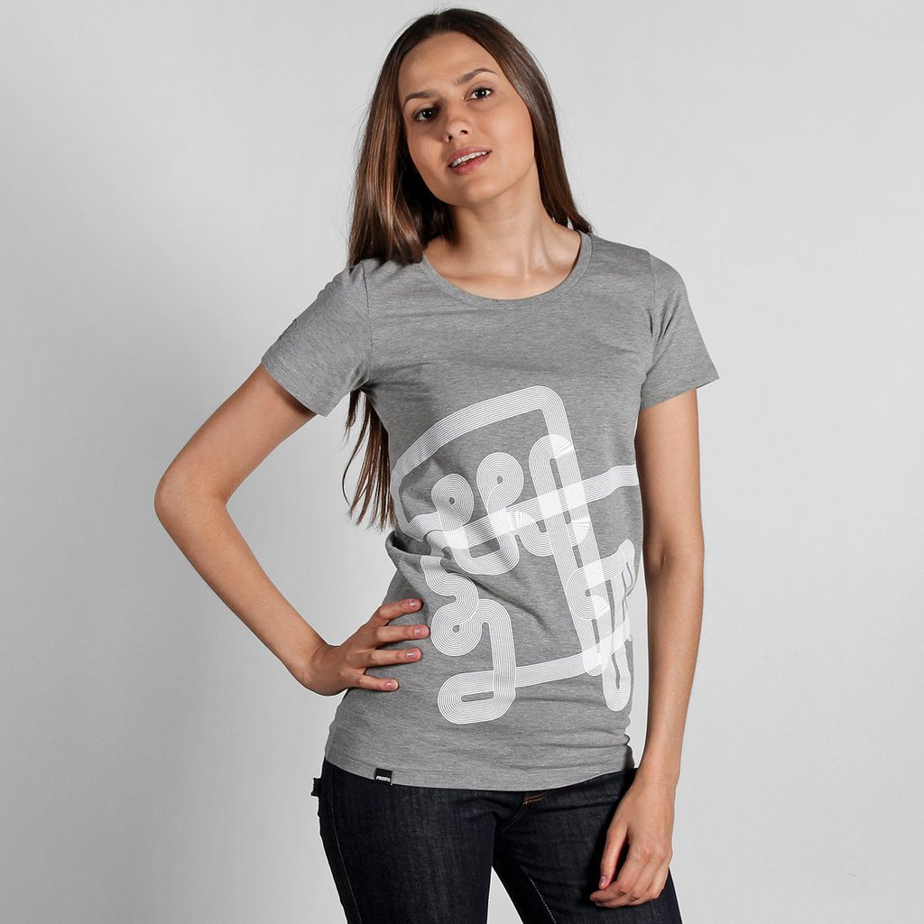 TEE LINES MEDIUM HEATHER GREY