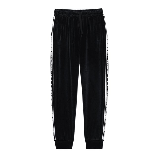 COLD VELVET PANTS BLACK