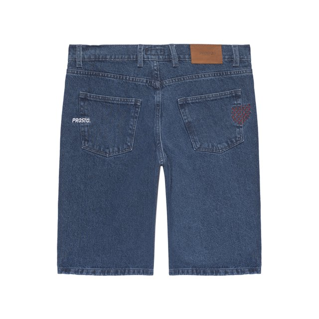 JEANS SHORTS EMBNET BLUE