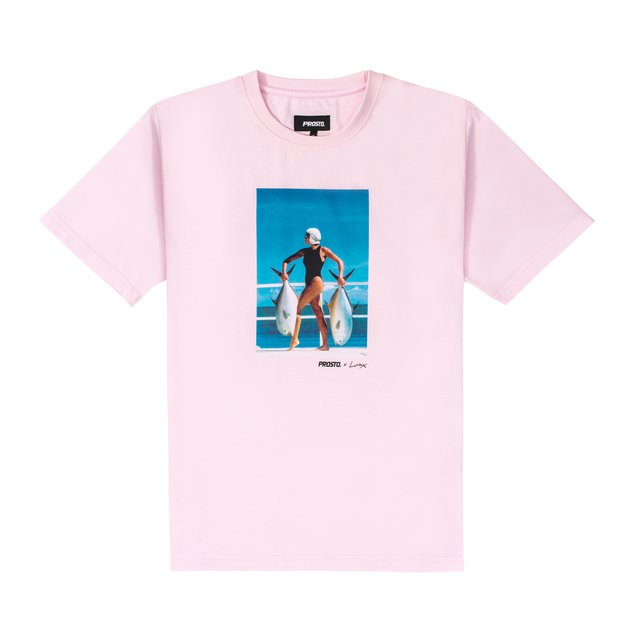 "JD. LORIEUX ""TRIFFIE"" TWO TSHIRT PINK"