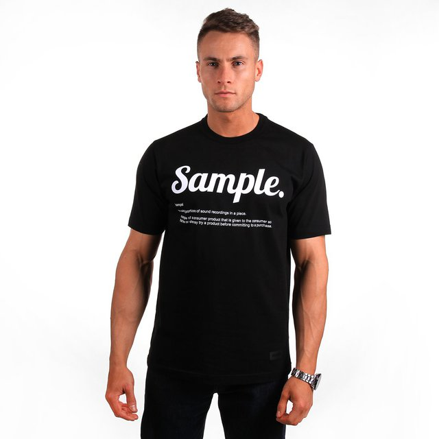 T-SHIRT SAMPLE BLACK