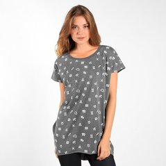 F.EL TEE PATT MEDIUM HEATHER GREY