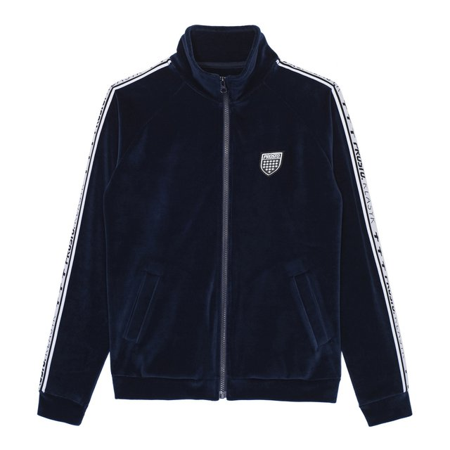 COLD VELVET ZIP NAVY