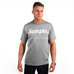 KL T-SHIRT SAMPLE MEDIUM HEATHER GREY