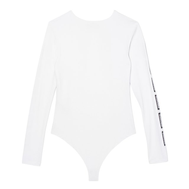 V NECK BODYSUIT FUEL WHITE