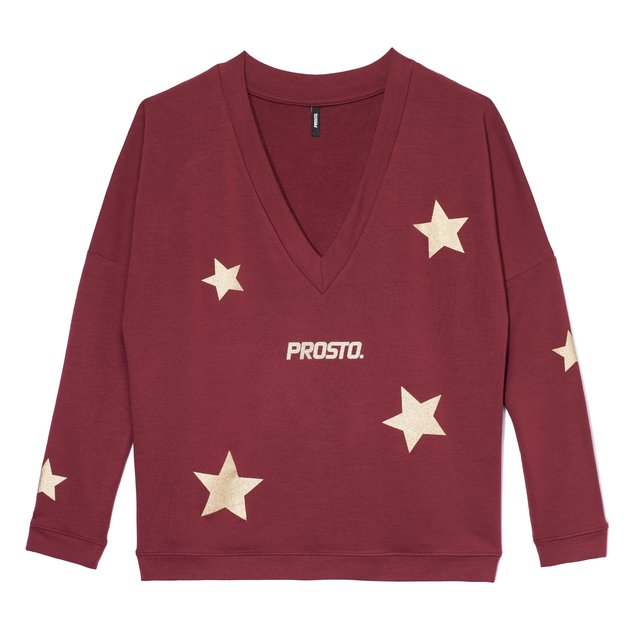 HOMEWEAR LONGSLEEVE SHINE BORDO