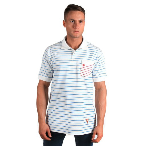 ST T-SHIRT POLO LINK WHITE