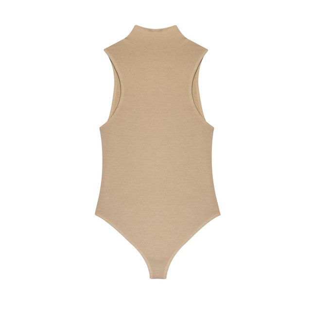 BODYSUIT HIGH NECK HOTTIE BEIGE