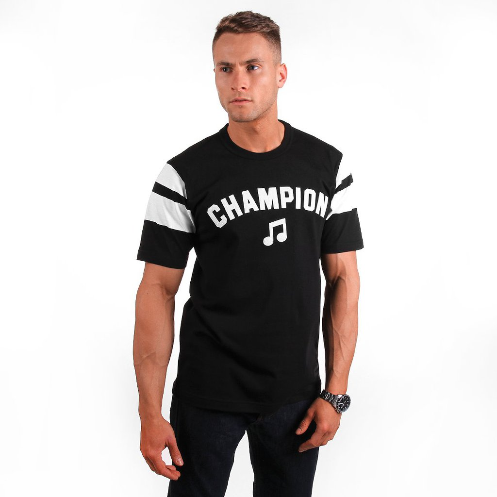T-SHIRT CHAMPION SOUND BLACK