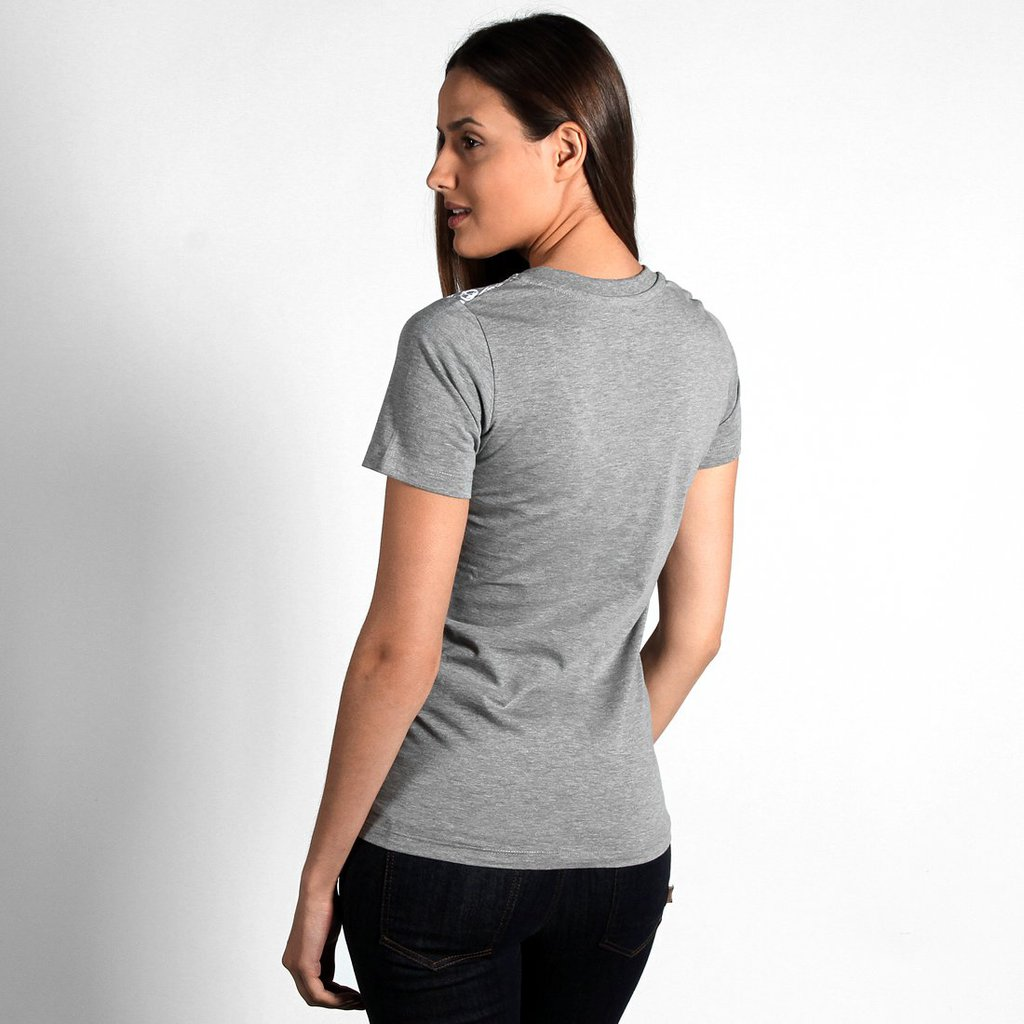VNECK PATTERN MEDIUM HEATHER GREY