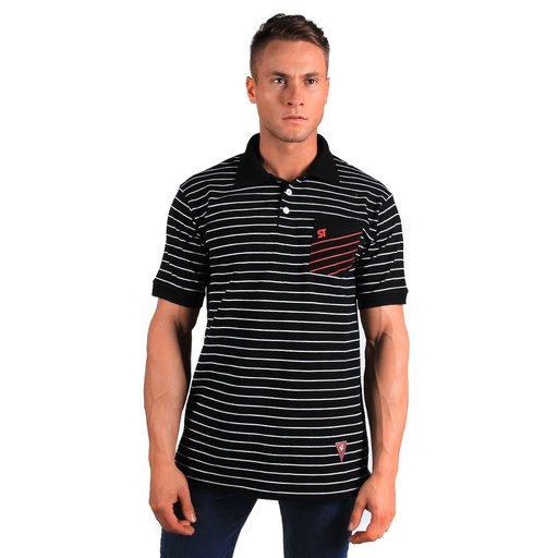 ST T-SHIRT POLO LINK BLACK