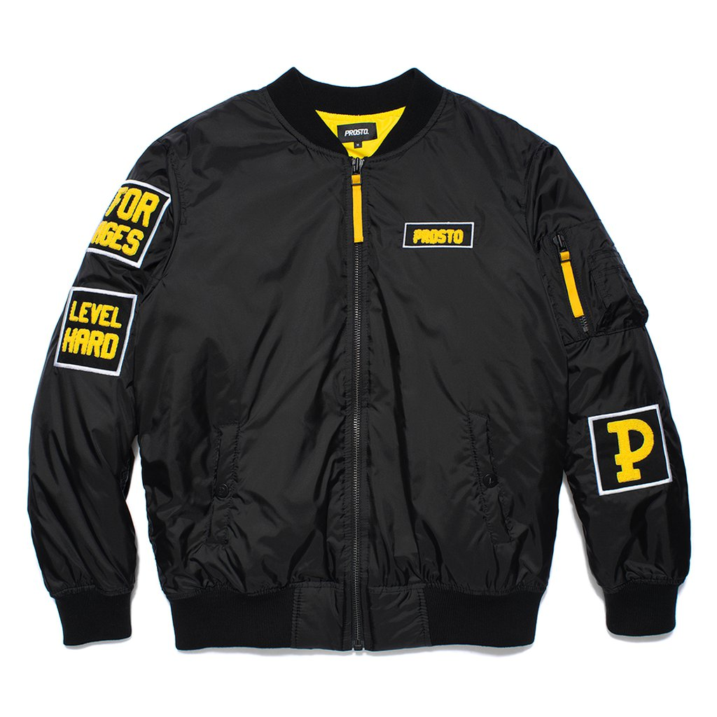 P JACKET FLYER PARTIZAN BLACK