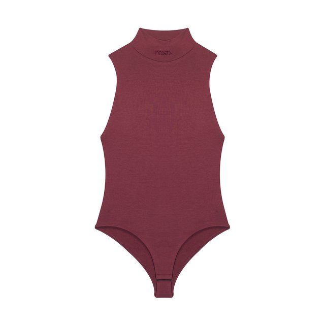 BODYSUIT HIGH NECK HOTTIE MAROON