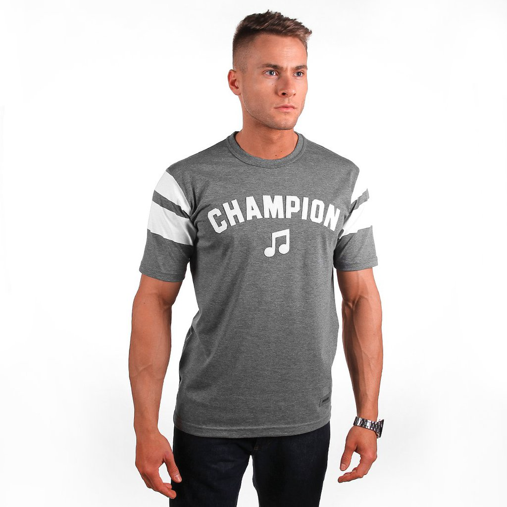 T-SHIRT CHAMPION SOUND MEDIUM HEATHER GREY