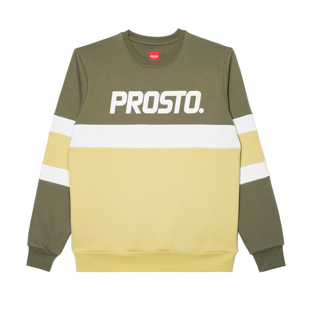 CREWNECK ZENTI OLIVE/LIGHT GREEN