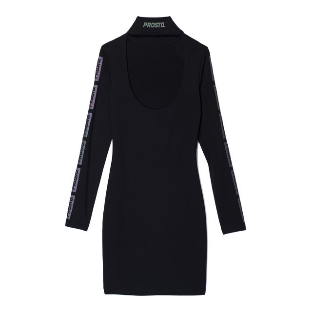 HIGH NECK DRESS FUEL BLACK