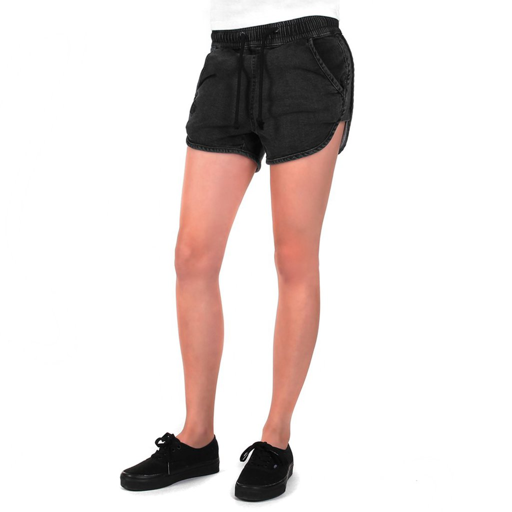 SHORTS WASHED BLACK