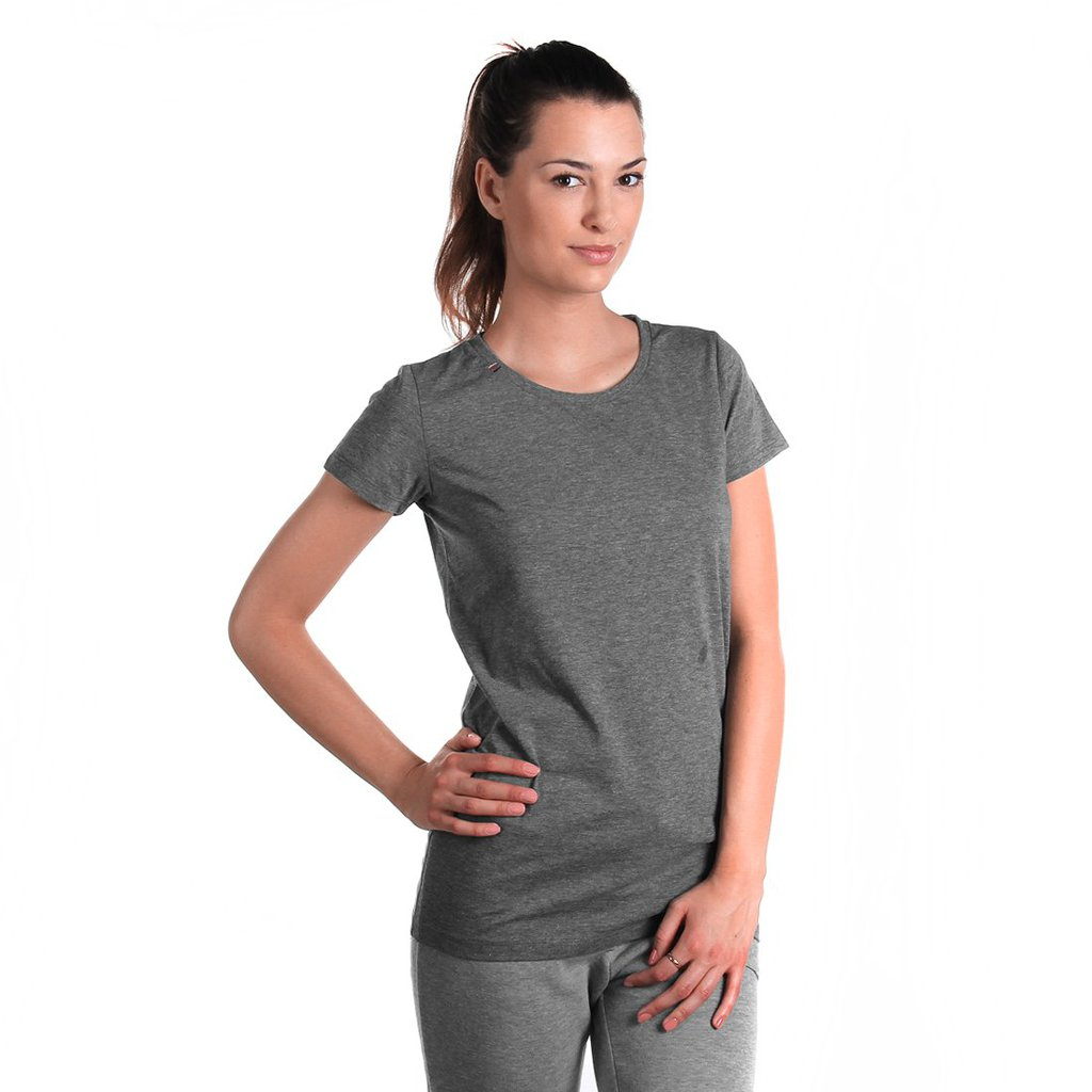 TEE SAFTY MEDIUM HEATHER GREY