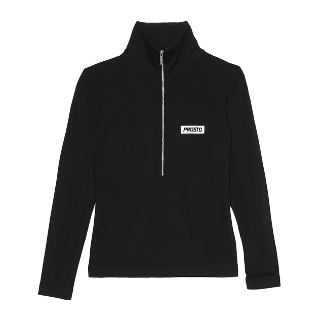 ZIP HIGH NECK BLACK