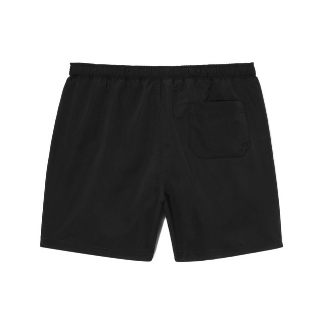 SWIM SHORTS TROPICAL BLACK