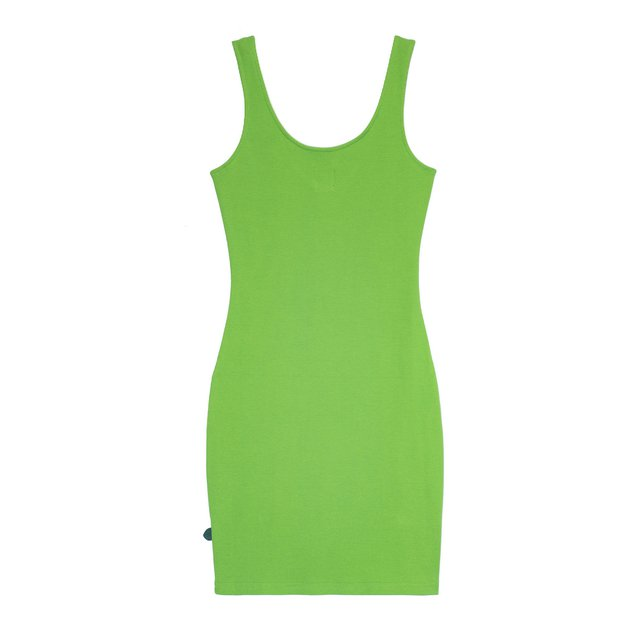 DRESS MIDI STRIA QUEEN SPRING GREEN