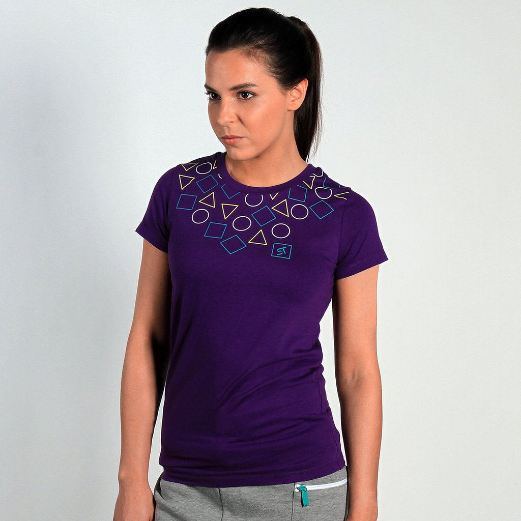 TEE SQUARE PURPLE