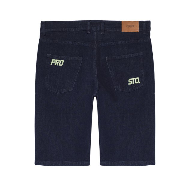 JEANS SHORTS DIAG DARK BLUE