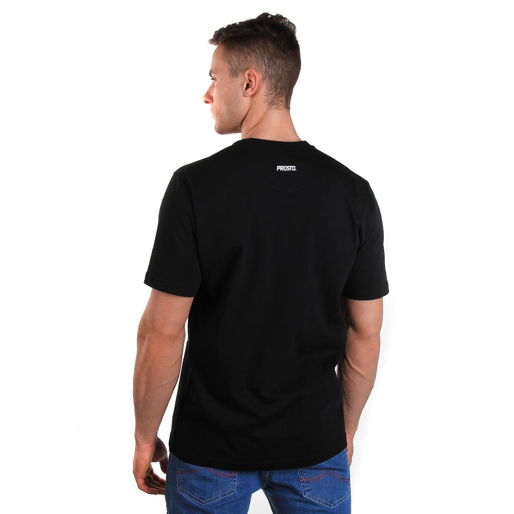 T-SHIRT EMBROILED BLACK