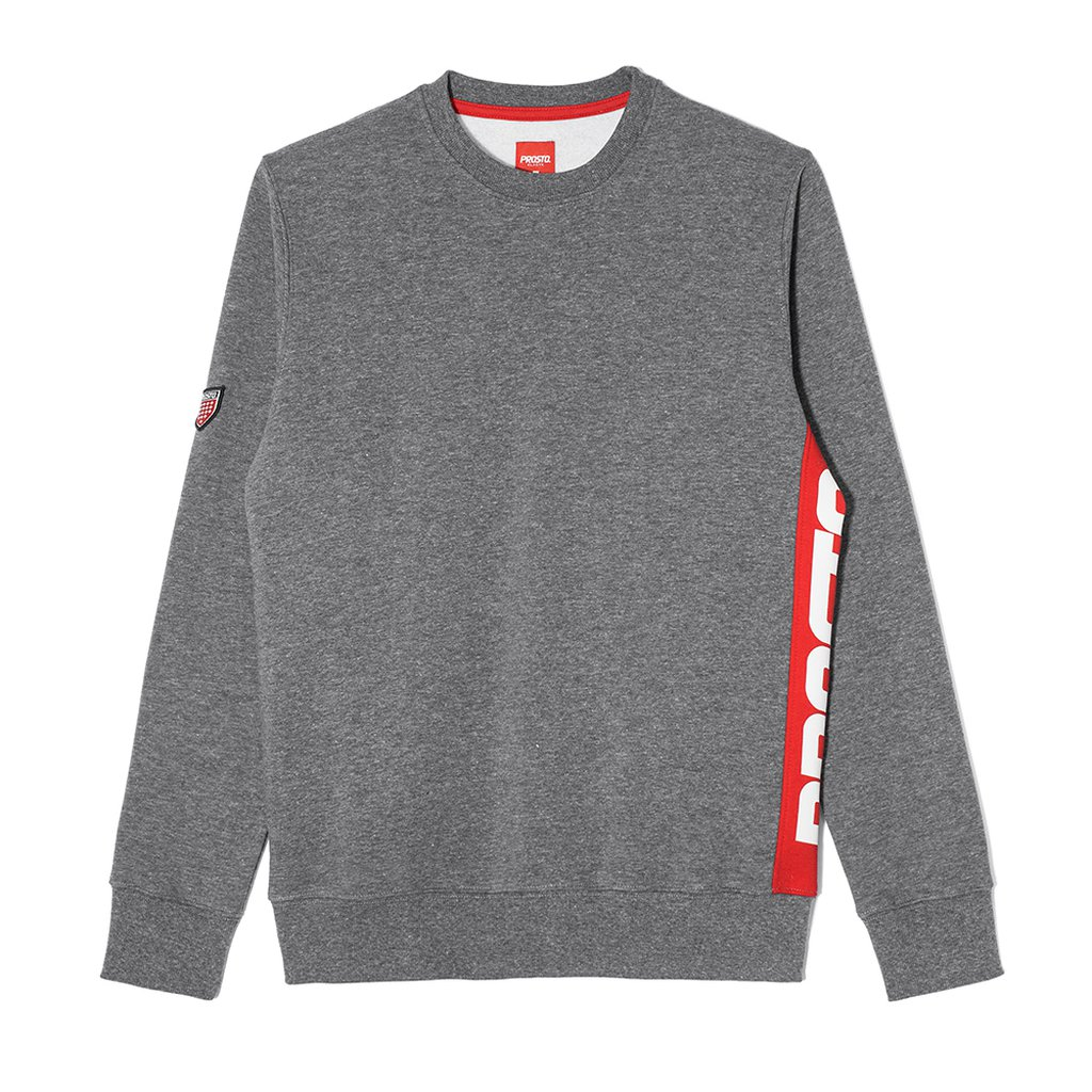 SWEATSHIRT SIDE P GREY