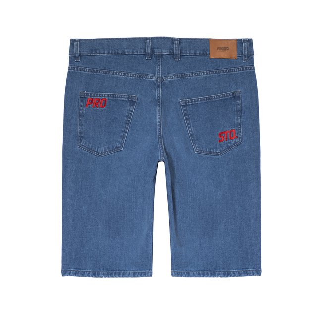 JEANS SHORTS DIAG BLUE