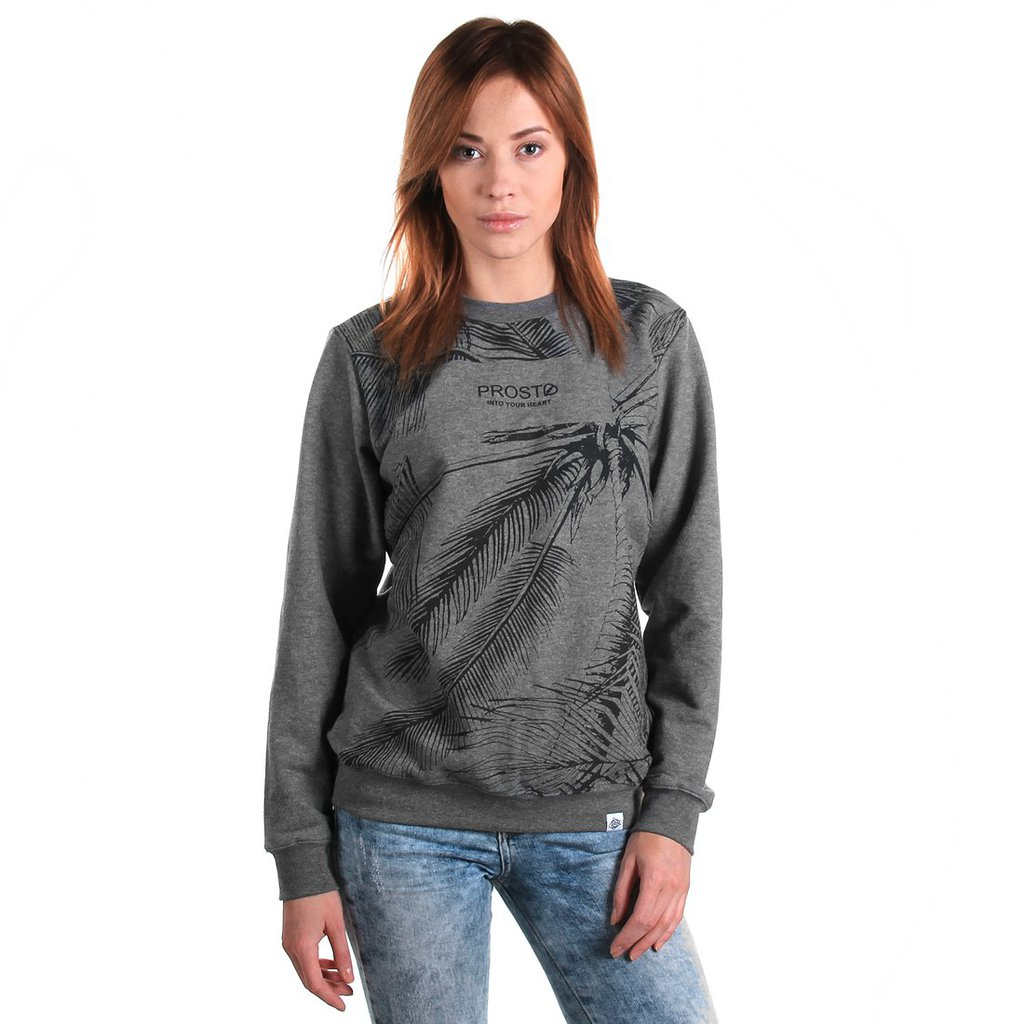 SWEATSHIRT PALMS GREY