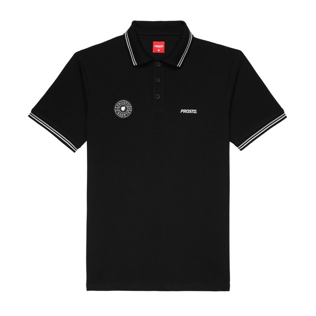 TSHIRT POLO CLUBZ BLACK