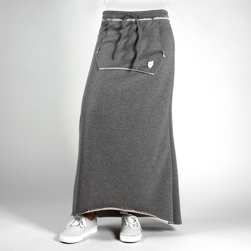 SKIRT LONG MEDIUM HEATHER GREY
