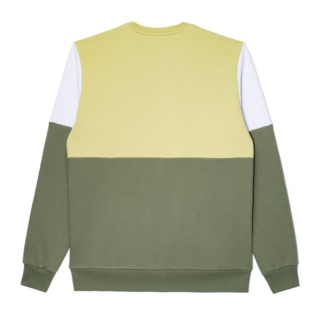 CREWNECK LAY OLIVE/LIGHT GREEN
