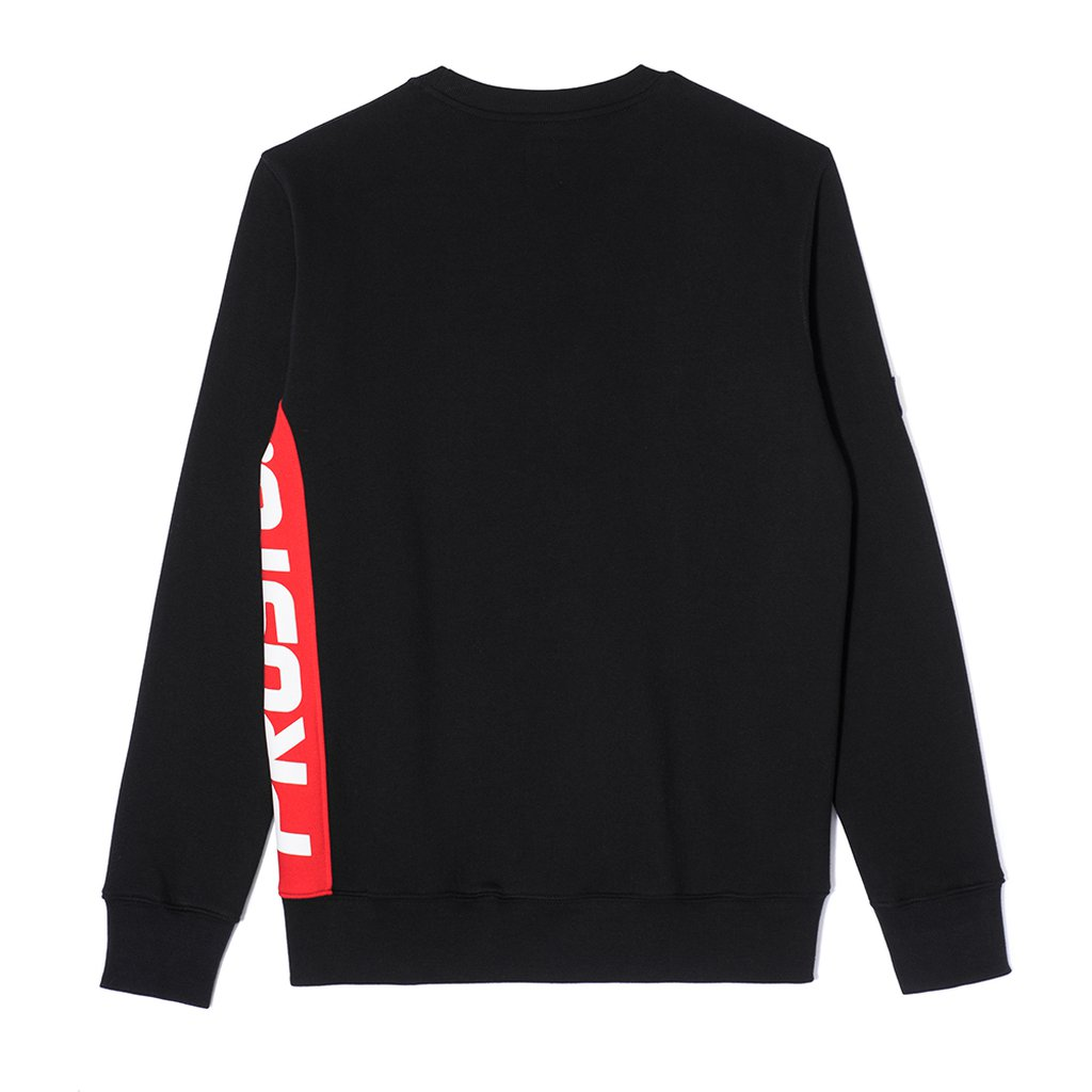 SWEATSHIRT SIDE P BLACK