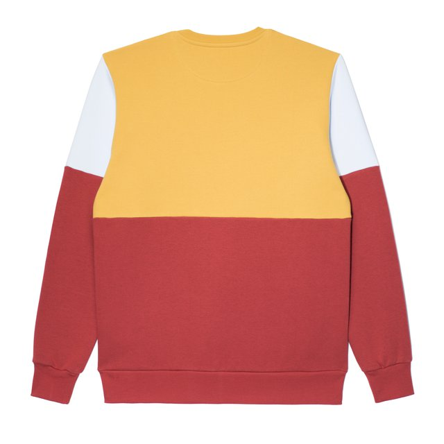 CREWNECK LAY YELLOW/BORDO