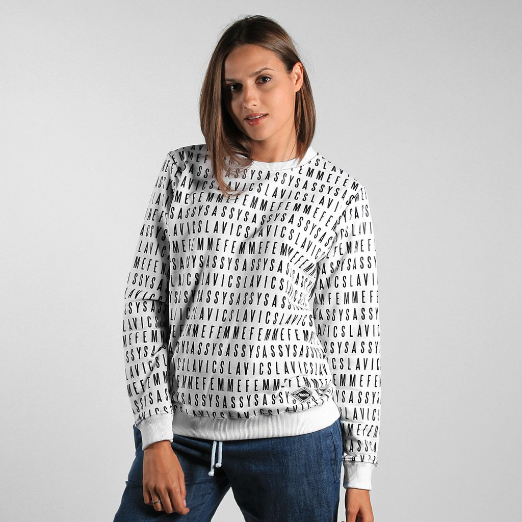 SWEATSHIRT TYPE WHITE