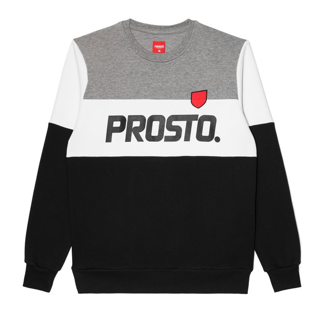 CREWNECK LAY GREY/BLACK