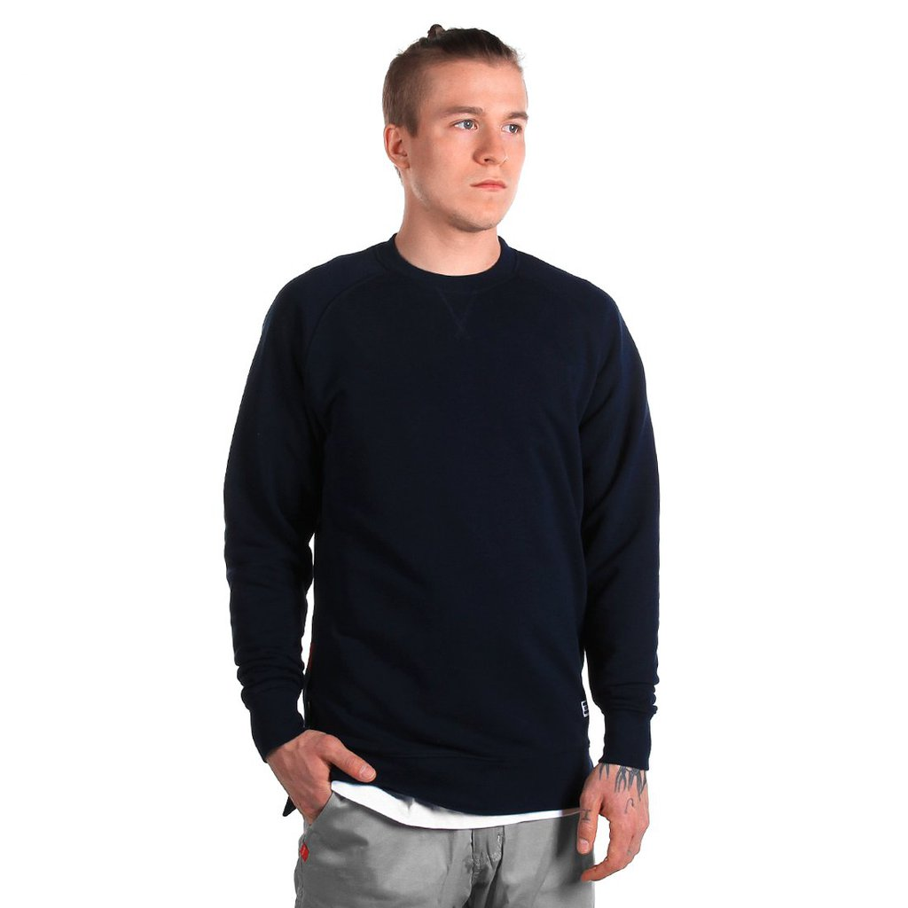 SWEATSHIRT DEEP MEDIUM HEATHER NAVY