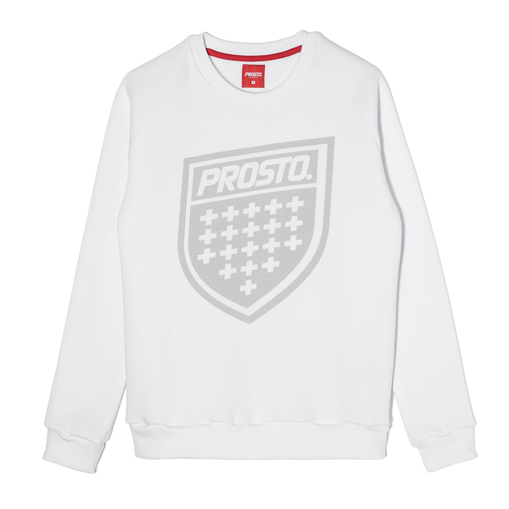 SWEATSHIRT SHIELD WHITE