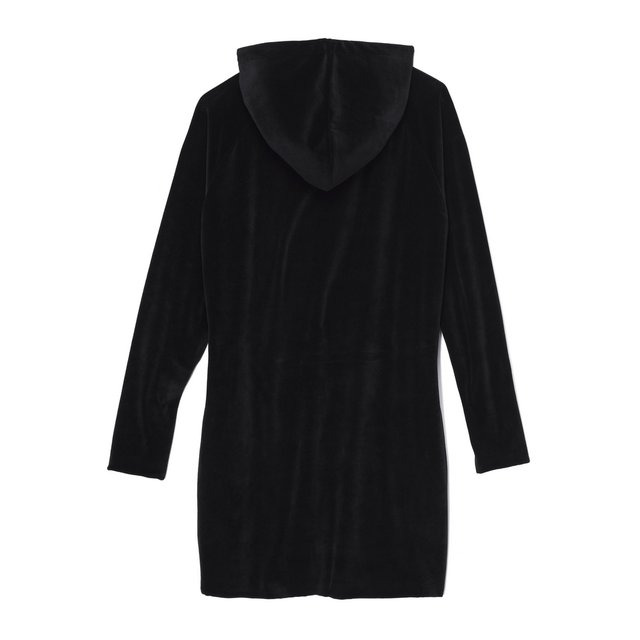 HOODIE DRESS HEAVY BLACK